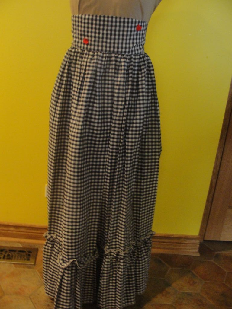 Checked and Ruffles Gingham Granny Skirt