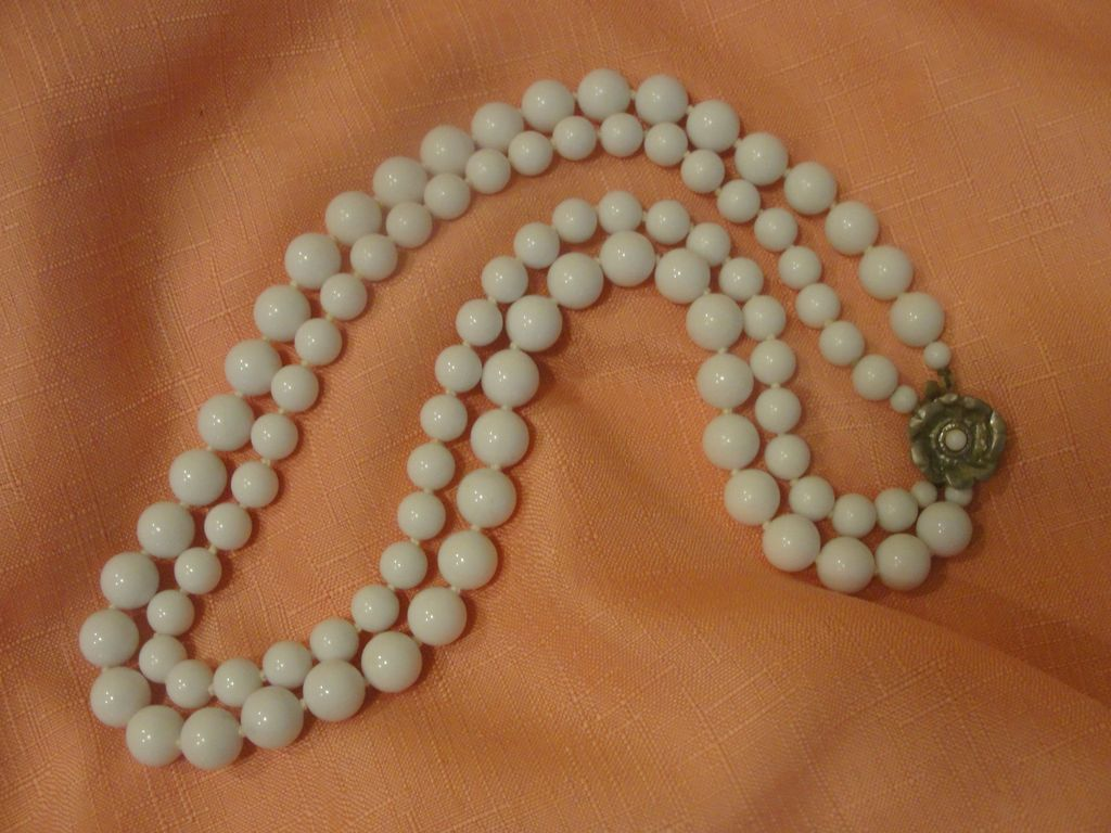 Hand Knotted Double Strand Necklace - Free shipping