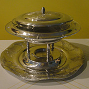 Flying Saucer Wilson Specialties Hand Wrought Chaffing Dish On Tray