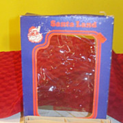 Santa Land Box with Indented Christmas tree ornaments