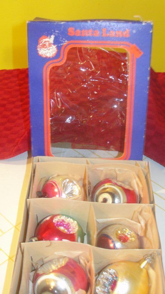 Santa Land Box with Indented Christmas tree ornaments