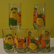 Nancy Lynn Silly Fruit Drinking Glasses