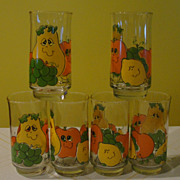 Nancy Lynn Silly Fruit Drinking Glasses