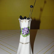 Violets in a Ring Z. S. & Co Hat Pin Holder