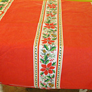 Red for the Holiday Tablecloth