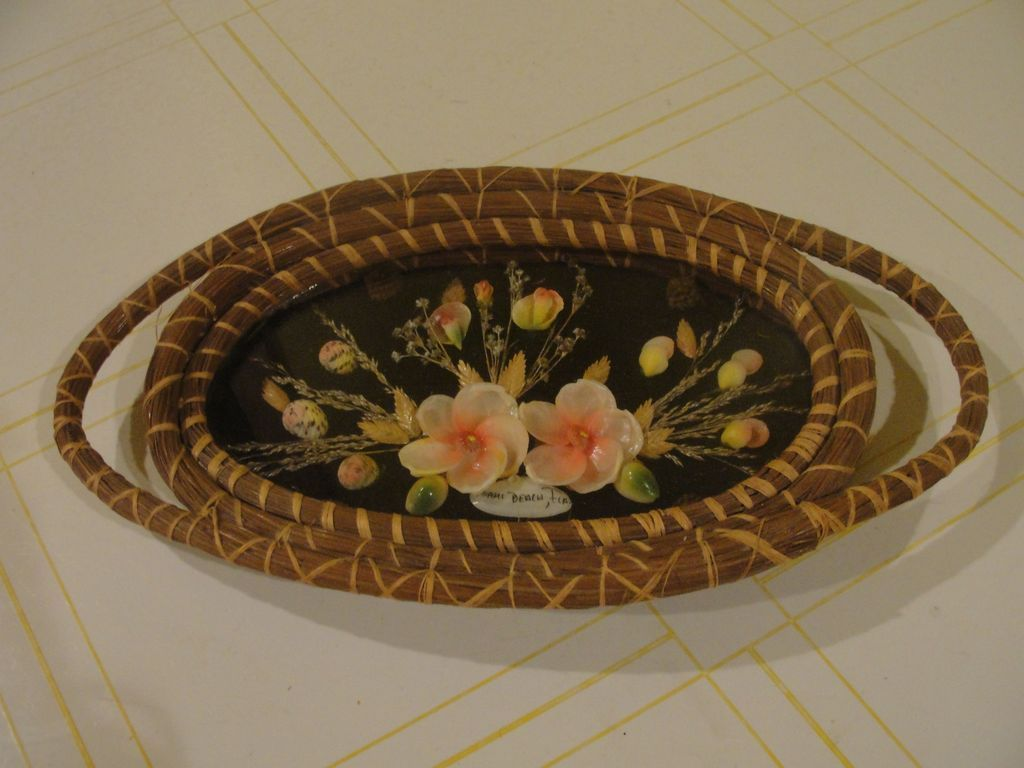 Ultimate Florida kitsch Sea Shell Trays - b121