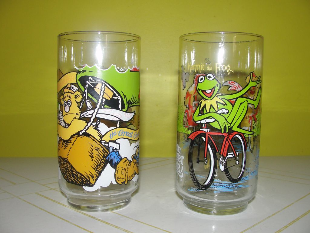 Kermit the Frog and Great Gonzo MCDonald's Glasses - b127