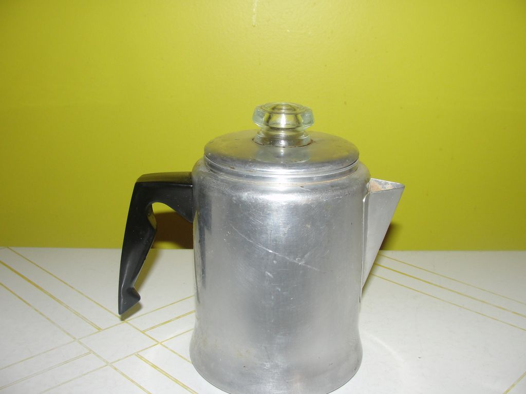 Chic-ly Shabby 5 Cup Aluminum Stove Top Percolator - b127