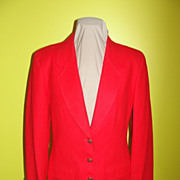 Really Red Pendelton Wool Blazer - BR