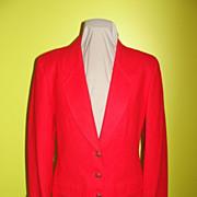 Really Red Pendelton Wool Blazer - BR
