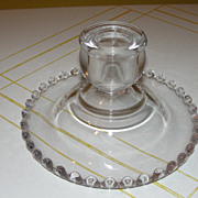 Beaded Edge Candlewick Single Lite Candleholder - b133