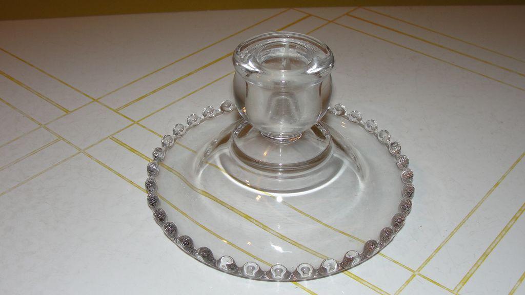 Beaded Edge Candlewick Single Lite Candleholder - b133