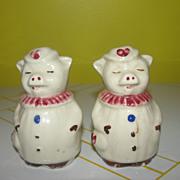 Winnie the Pig Shawnee Salt and Pepper Shakers