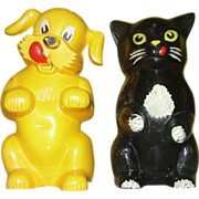 Pup and Kitten Kennel Ration Salt and Pepper Shakers