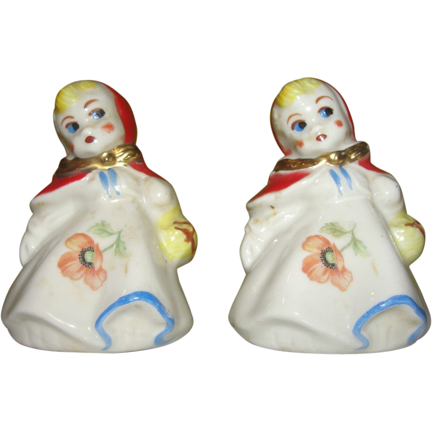 Hall China Little Red Riding Hood Salt and Pepper Shakers
