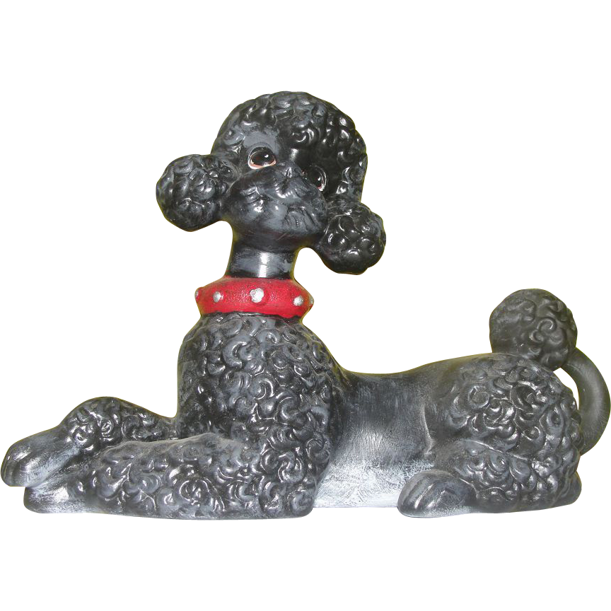 Black Poodle Atlantic Mold Figure - b163
