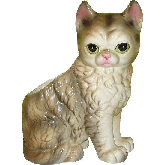 Pretty Kitty Cat Planter #4219 - b141