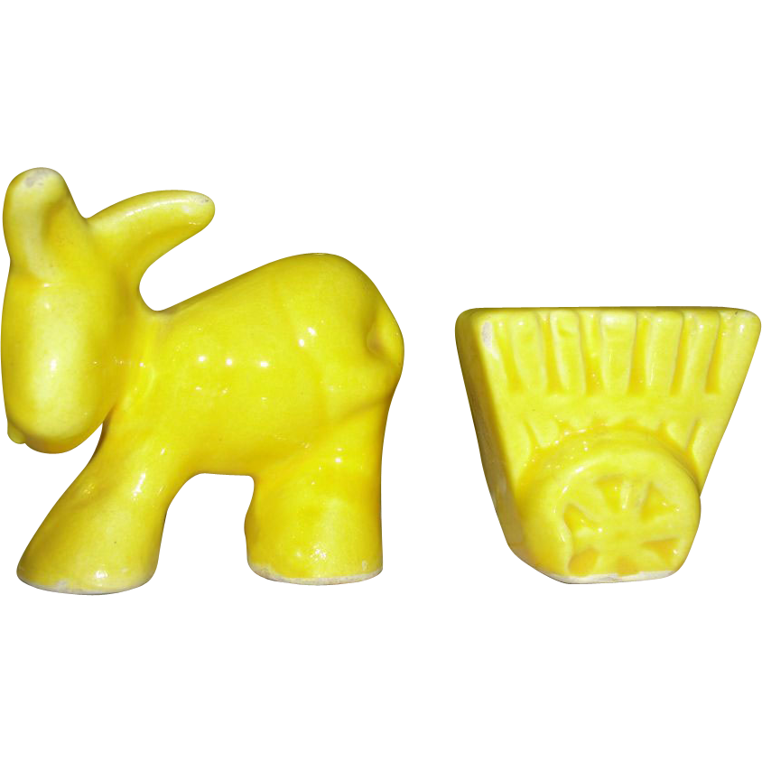 Donkey and Cart Salt and Pepper Shakers