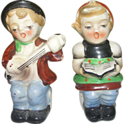 Singer and Reader Boy and Girl Salt and Pepper Shakers