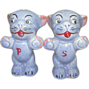 Blue Puppies Salt and Pepper Shakers