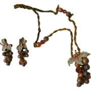 Park Lane Cluster of Pink Beads Necklace and Clip on Earrings - Free shipping
