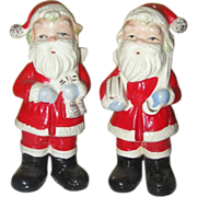Tall Slim Santa on a Diet Salt and Pepper Shakers