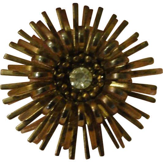Starburst with Rhinestone Center Pin - Free shipping