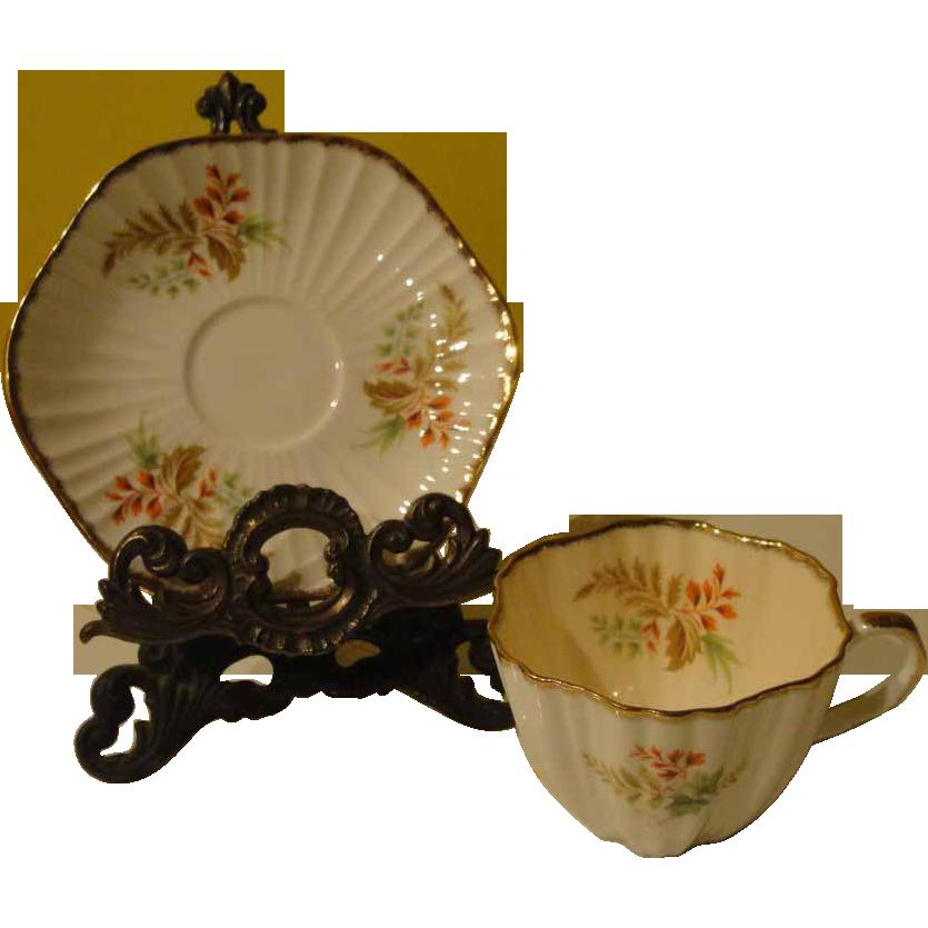 Foley Hexagonal Tea Cup and Saucer #4057 - b143
