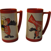 Bud Man Thermo Serve Budweiser Steins - b148