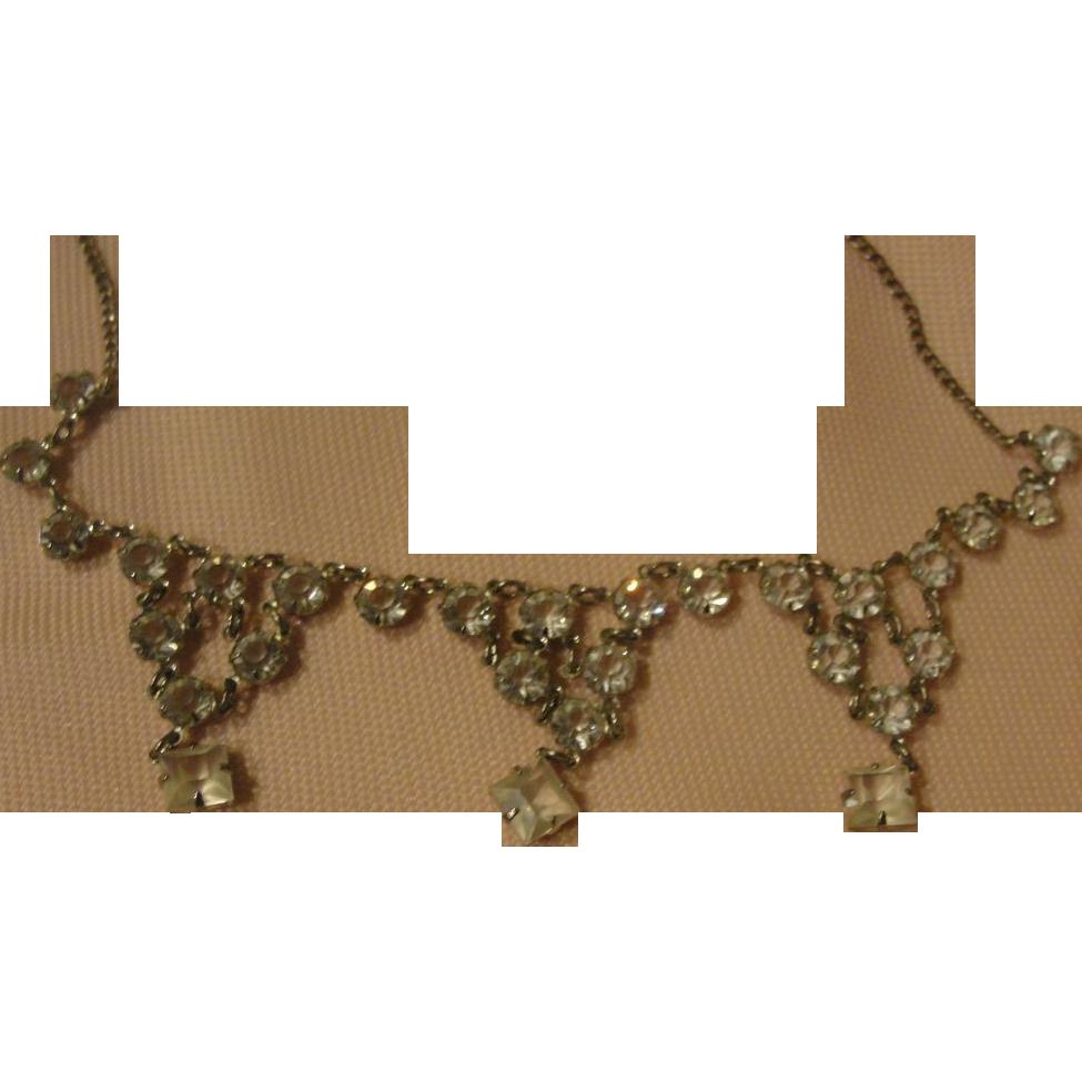 Glittery Rhinestone Necklace - Free shipping