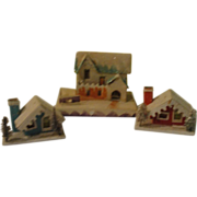 Houses and Mansion Snow Village Houses - b145