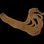 Elegant 8-strand Graduated Bead Necklace - Free shipping