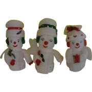 Frosty Trio of Snowmen - b151