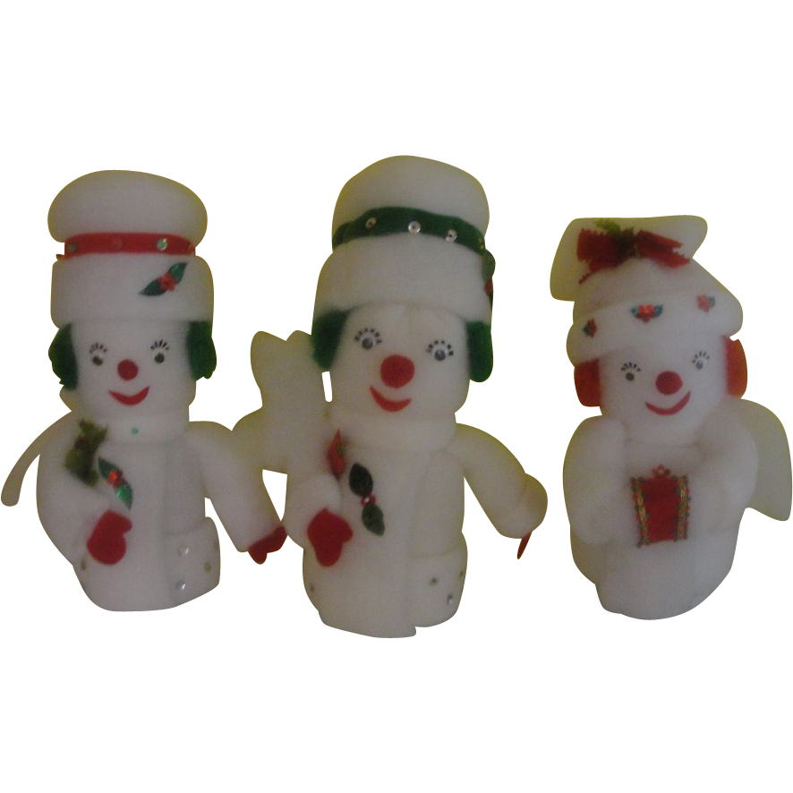 Frosty Trio of Snowmen - b151