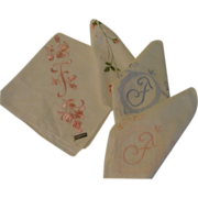 ''F'' is for ... Monogrammed Handkerchiefs - Free Shipping