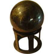 Brass Orb on Stand - b154