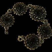 Flower Linked Sterling Bracelet - Free Shipping