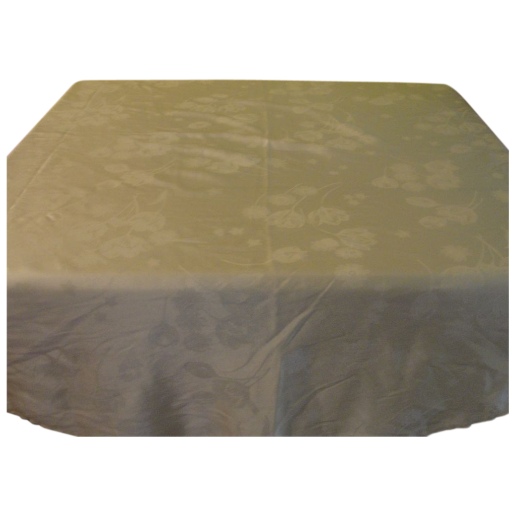 Yellow Tulip Damask R-oval tablecloth - L2