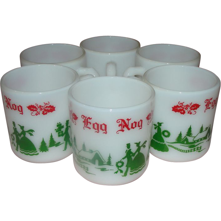 Anchor Hocking Egg Nog Mugs - b157 from hodgepodgelodge on Ruby Lane