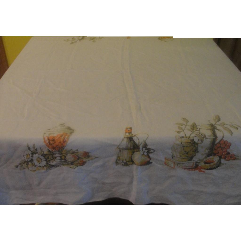 Fruit Basket Print Tablecloth - L2