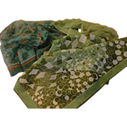 Green, Greener and daisy Scarfs - Free shipping - b157