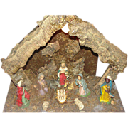 Oh Holy Night Bark Creche Nativity Set - g - Red Tag Sale Item