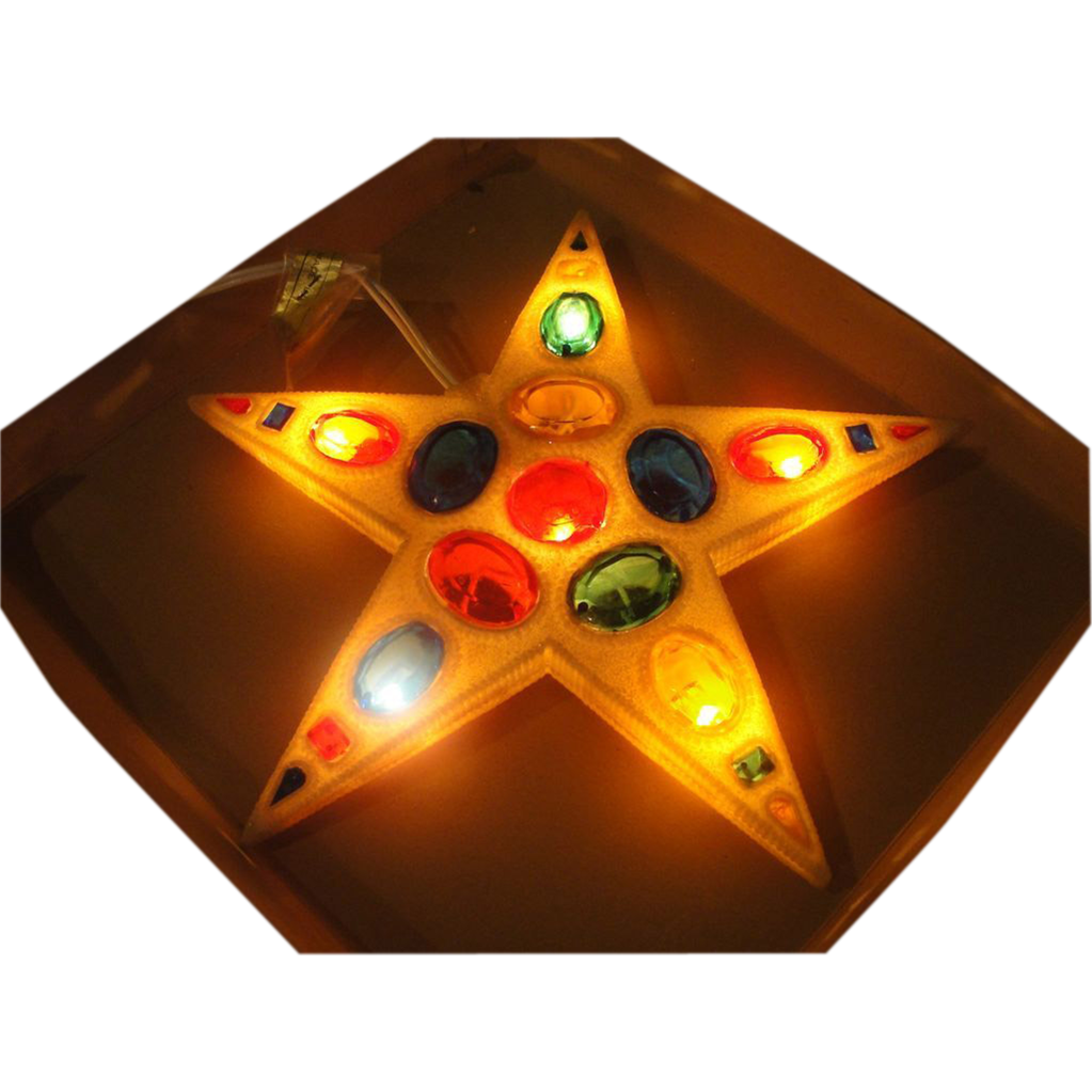 Snowy Light-up Star Christmas Tree Topper - b162