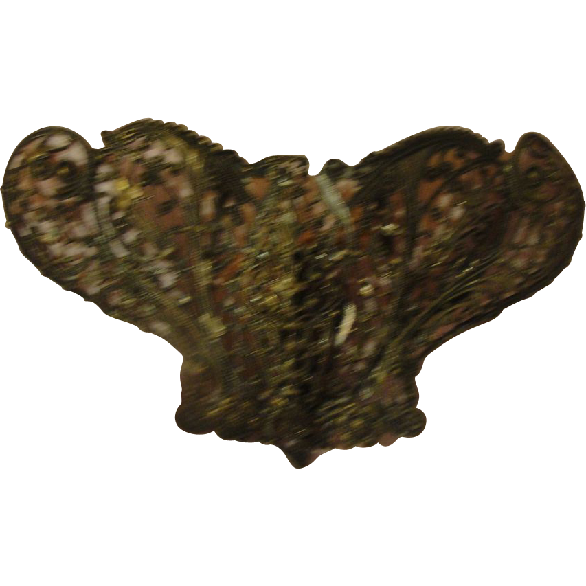 Illusive Butterfly Filigree Dress Clip/buckle - Free shipping