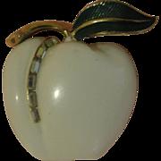An Apple a Day Pastilli White Enamel Pin - Free shipping