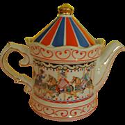 Sadler Edwardian Entertainment Carousel Tea Pot - b167