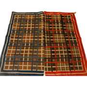 One Red, One Blue Squared Scarf - Free shipping - b170