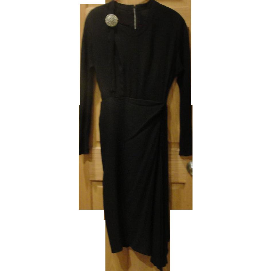 Draped and Bowed Black dress