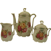 Pink and Yellow Roses German Coffee/tea Service - b169