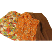 Orange and Brown Trio of Scarfs - Free shipping - b170